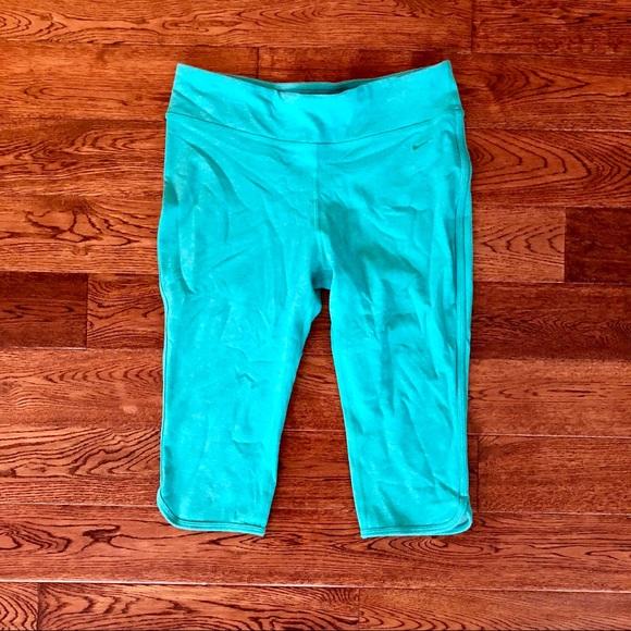 c498bf881056 Nike Pants - Turquoise Nike Capri Pants